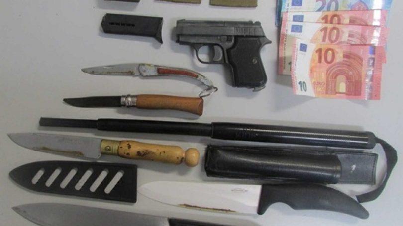 Coimbra: Traficante de droga apanhado com navalhas e um bastão