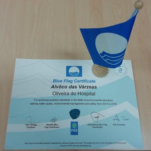 Praia Fluvial de Alvôco das Várzeas distinguida com Certificado Internacional Blue Flag