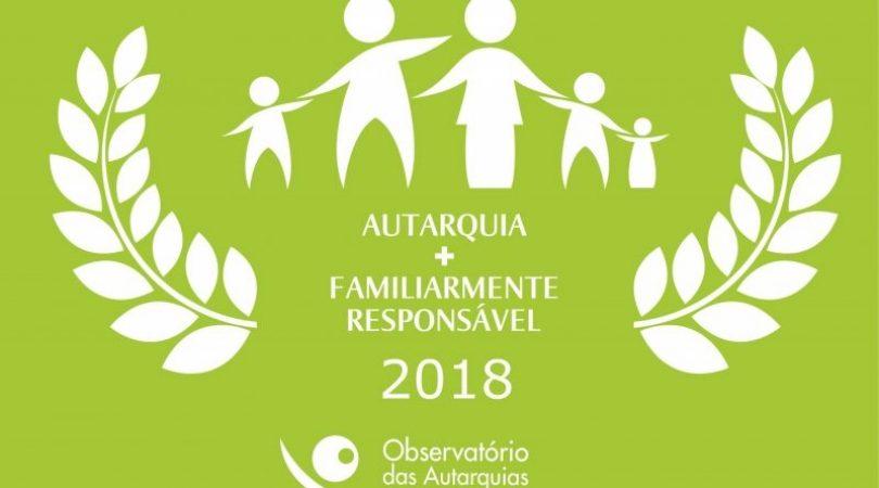 """Oliveira do Hospital novamente reconhecida como """"Autarquia Mais Familiarmente Responsável 2018"""""""