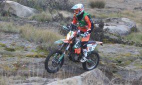 Mário Patrão no pódio do Campeonato Nacional de Rally Raid