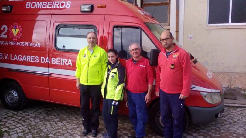 Bebé nasce em ambulância dos Bombeiros de Lagares da Beira a caminho da maternidade