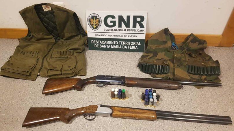 Aveiro: Detidos por andarem à caça junto a instalações industriais