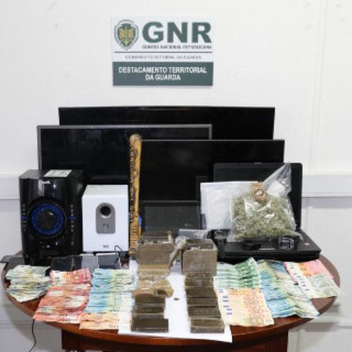 Guarda: Dois homens e uma mulher detidos por tráfico de estupefacientes