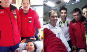 """Bombeiros de Lagares da Beira voltam a ser """"brindados"""" com nascimento em ambulância"""