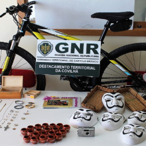 Covilhã: Homem detido por 17 furtos em residências