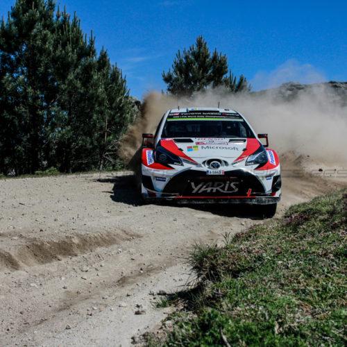 Ott Tanak em Toyota Yaris WRC lidera Rally de Portugal, após completar as três primeira classificativas (Lousã, Góis e Arganil)