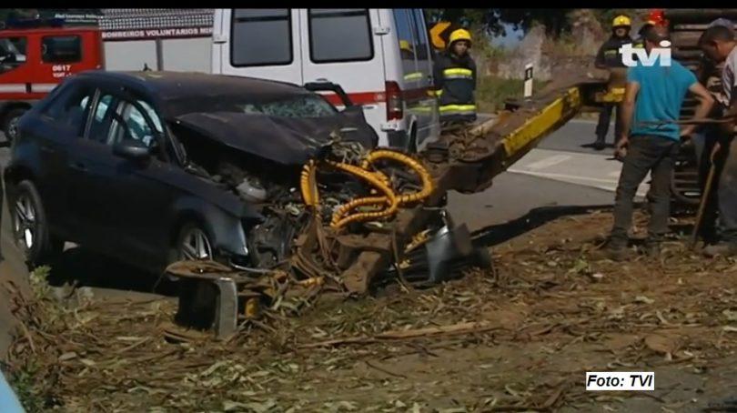 Acidente a caminho do Rally de Portugal, faz um morto e três feridos ligeiros em Miranda do Corvo