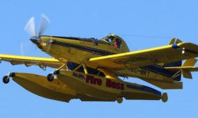 Um avião anfíbio médio de combate a incêndios Fire Boss, sofre acidente na barragem de Castelo do Bode.