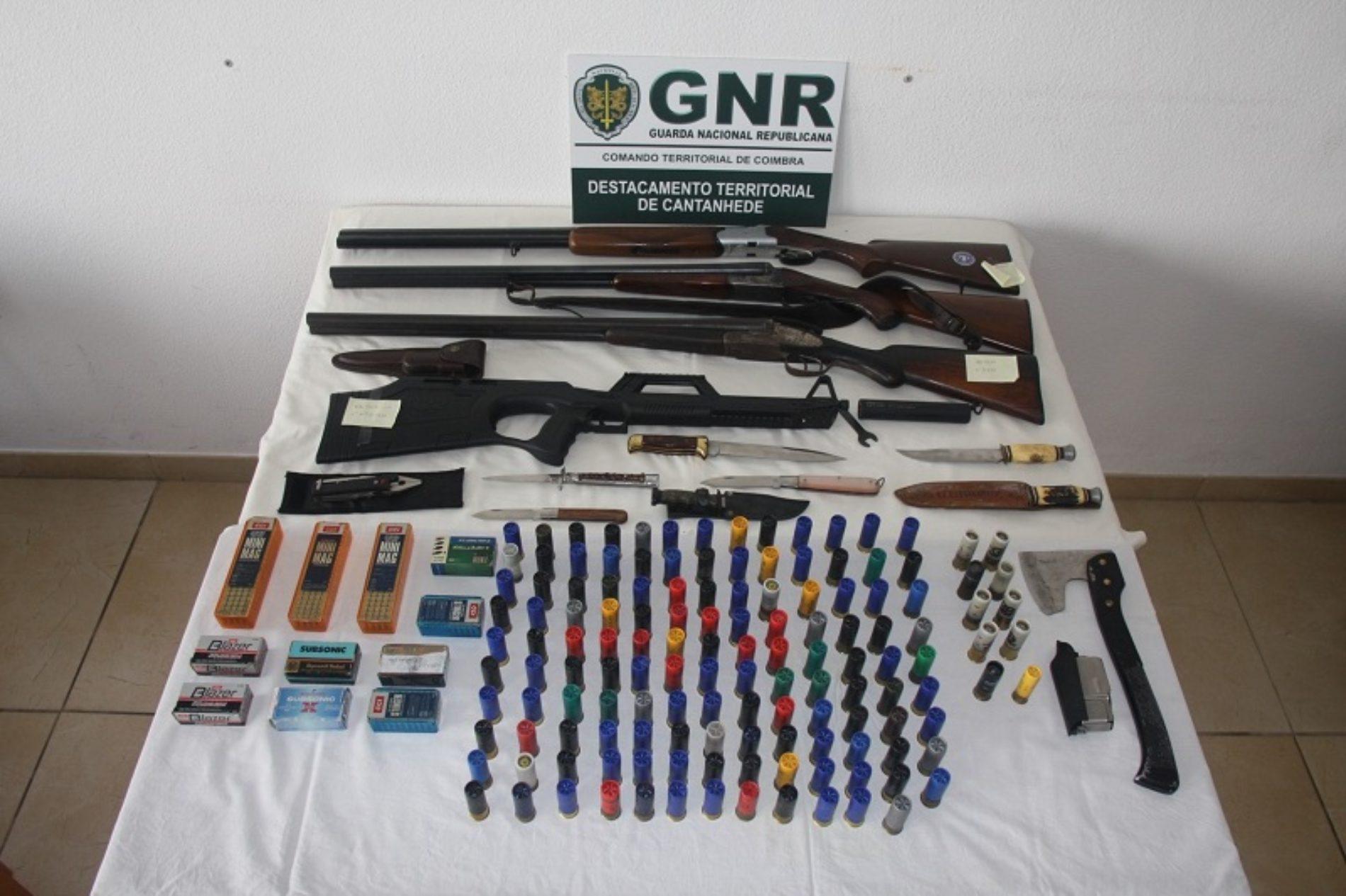 Região: GNR apreende 749 munições e 13 armas. Identificado homem pelo crime de cultivo de estupefacientes