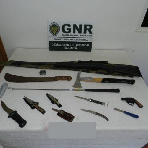 GNR apreendeu 10 armas a homem que ameaçava a mulher