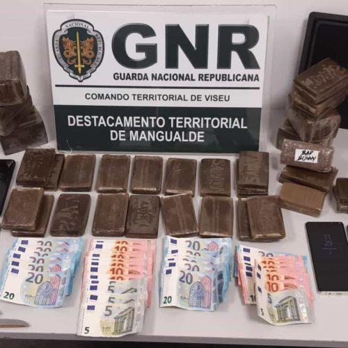 Mais de 10 mil doses de haxixe apreendidas em Viseu pela GNR