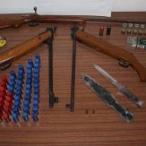Tondela: Homem detido por posse ilegal de armas