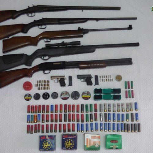 Coimbra: GNR apreende armas e munições no âmbito de violência doméstica