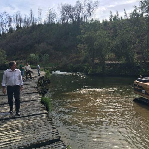 Município de Penacova inicia trabalhos nos açudes do Rio Alva