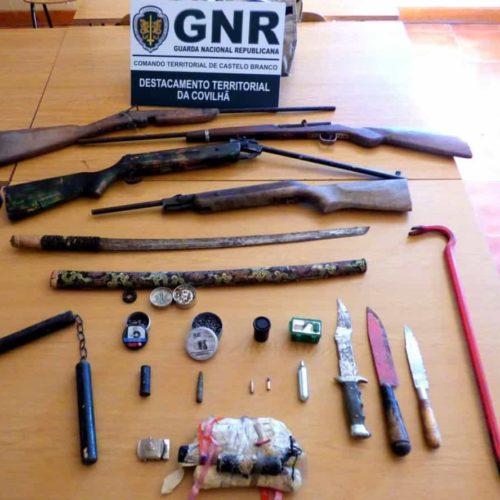 Homem foi detido por violência doméstica e posse de explosivos na Covilhã