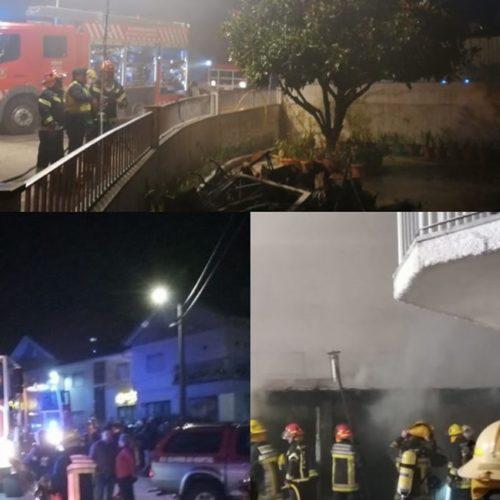 Incêndio destruiu anexo de habitação na Catraia de S. Paio na noite de Natal