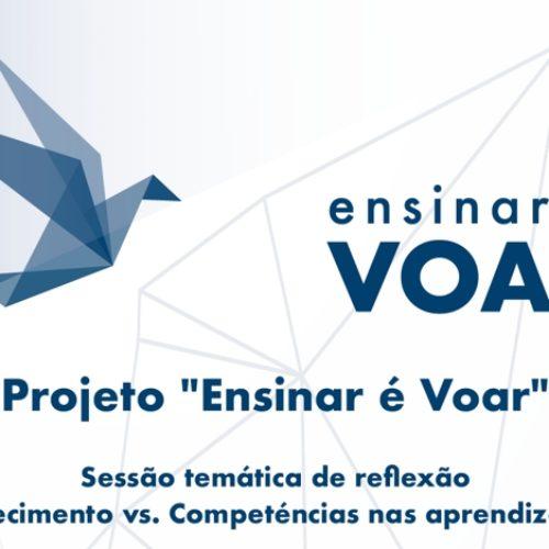 """Projeto """"Ensinar é Voar"""" promove sessão de reflexão sobre """"Conhecimentos vs Competências"""""""