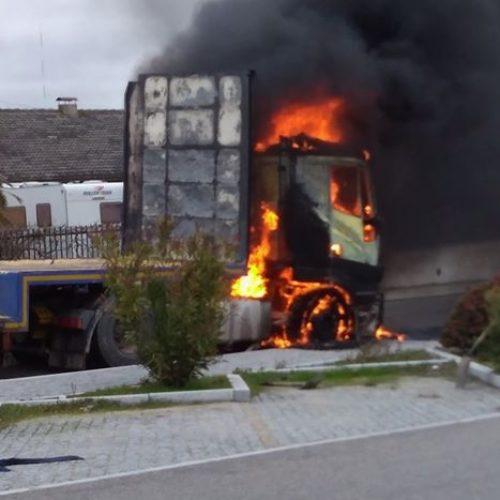 Camião incendiou-se em Vilar Formoso