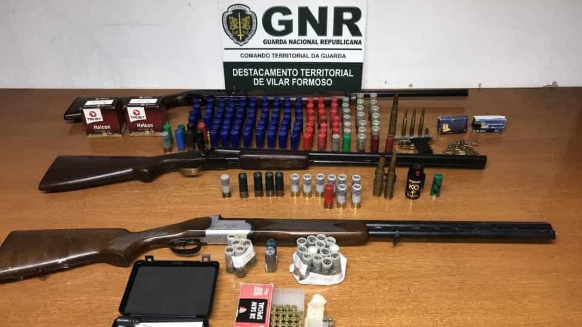 Região: Sete detidos por posse ilegal de armas