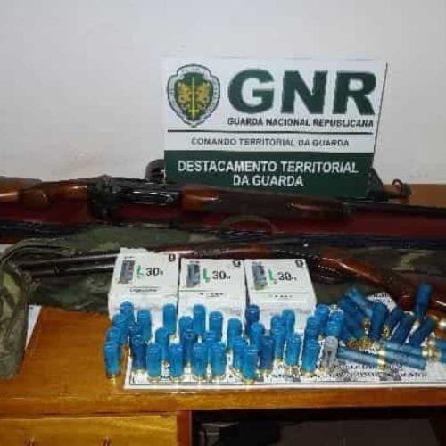 Região: GNR detém três homens por caça ilegal