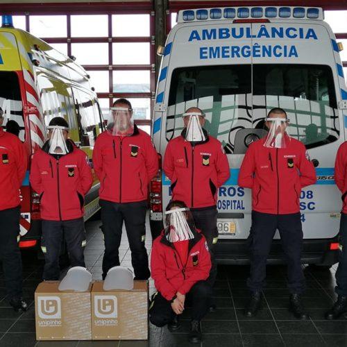 Covid-19: Bombeiros de Oliveira do Hospital agradecem a empresas oferta de viseiras de proteção