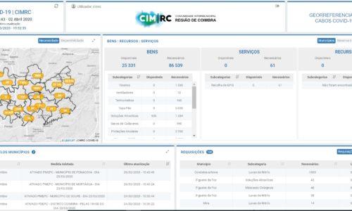 CIM Região de Coimbra cria plataforma de gestão de stocks e de georreferenciação de casos de COVID-19