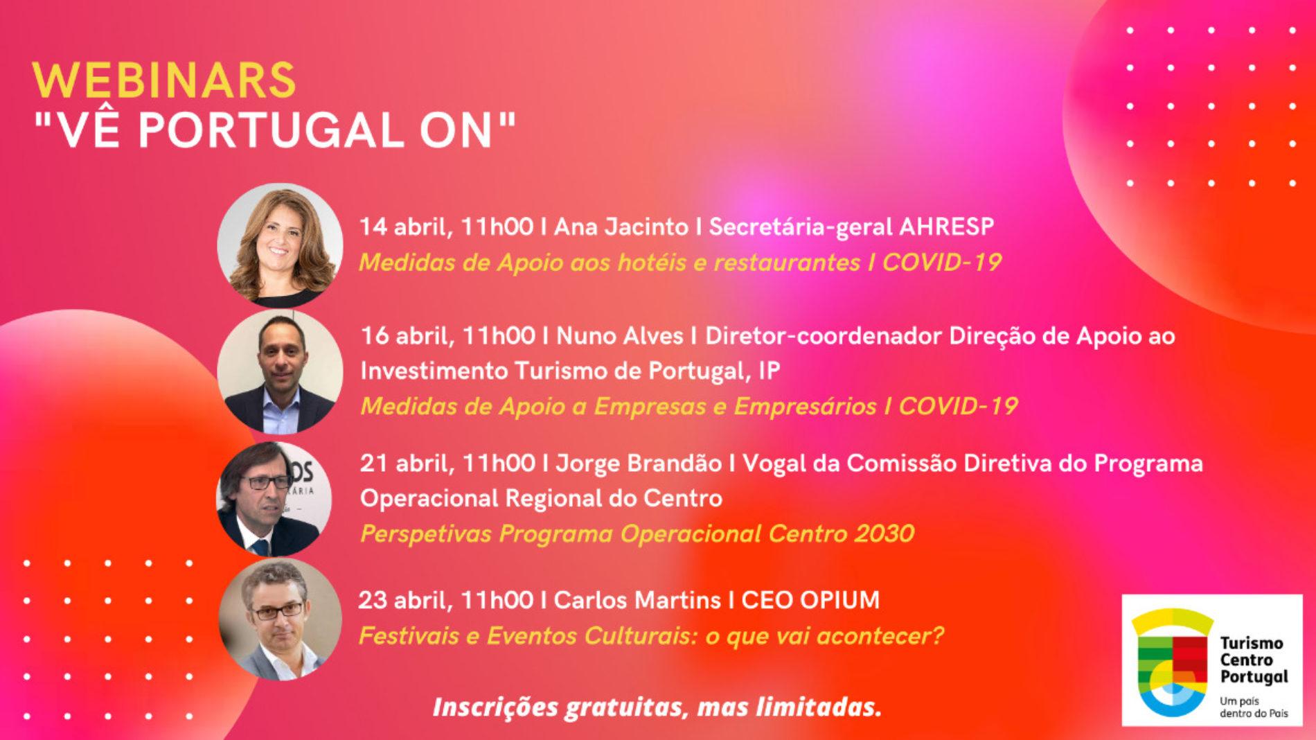 "Turismo Centro de Portugal organiza videoconferências temáticas ""Vê Portugal ON"""