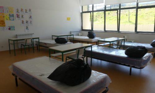 Covid-19: Centro Escolar de Tábua convertido em Centro de Acolhimento Temporário