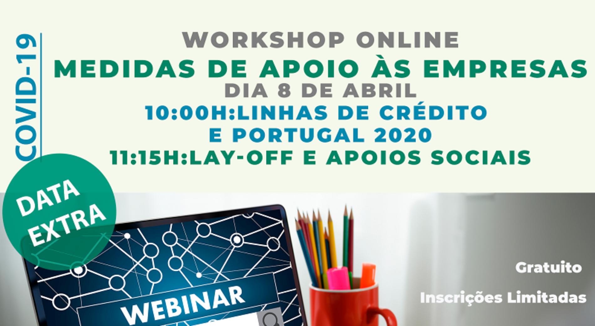 Covid-19: Região de Coimbra promove workshop online sobre as medidas de apoio às empresas