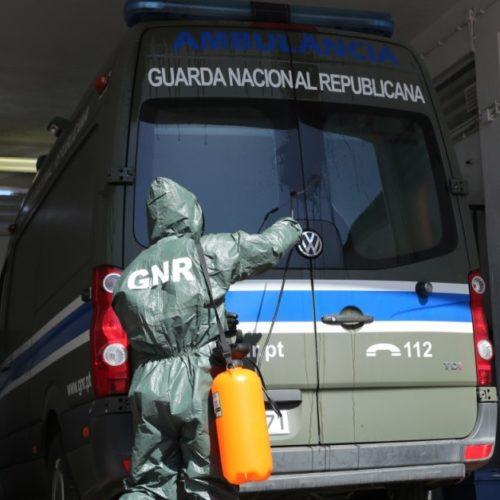 COVID-19: GNR descontaminou cerca de 2400 ambulâncias e 70 instalações