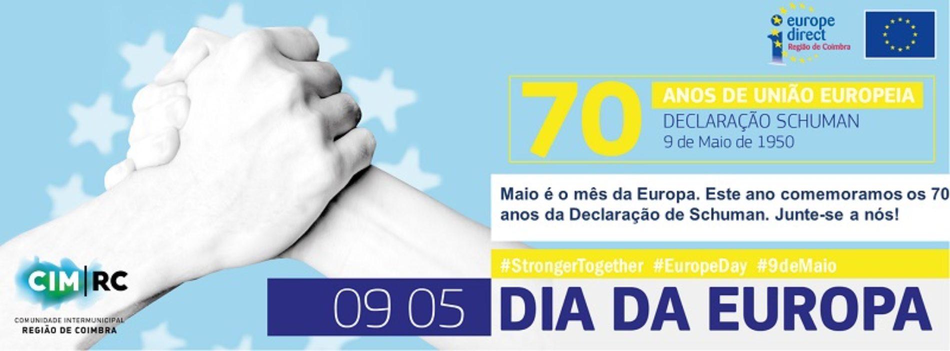 """Região de Coimbra comemora Dia da Europa """"online"""" com homenagem à União Europeia"""