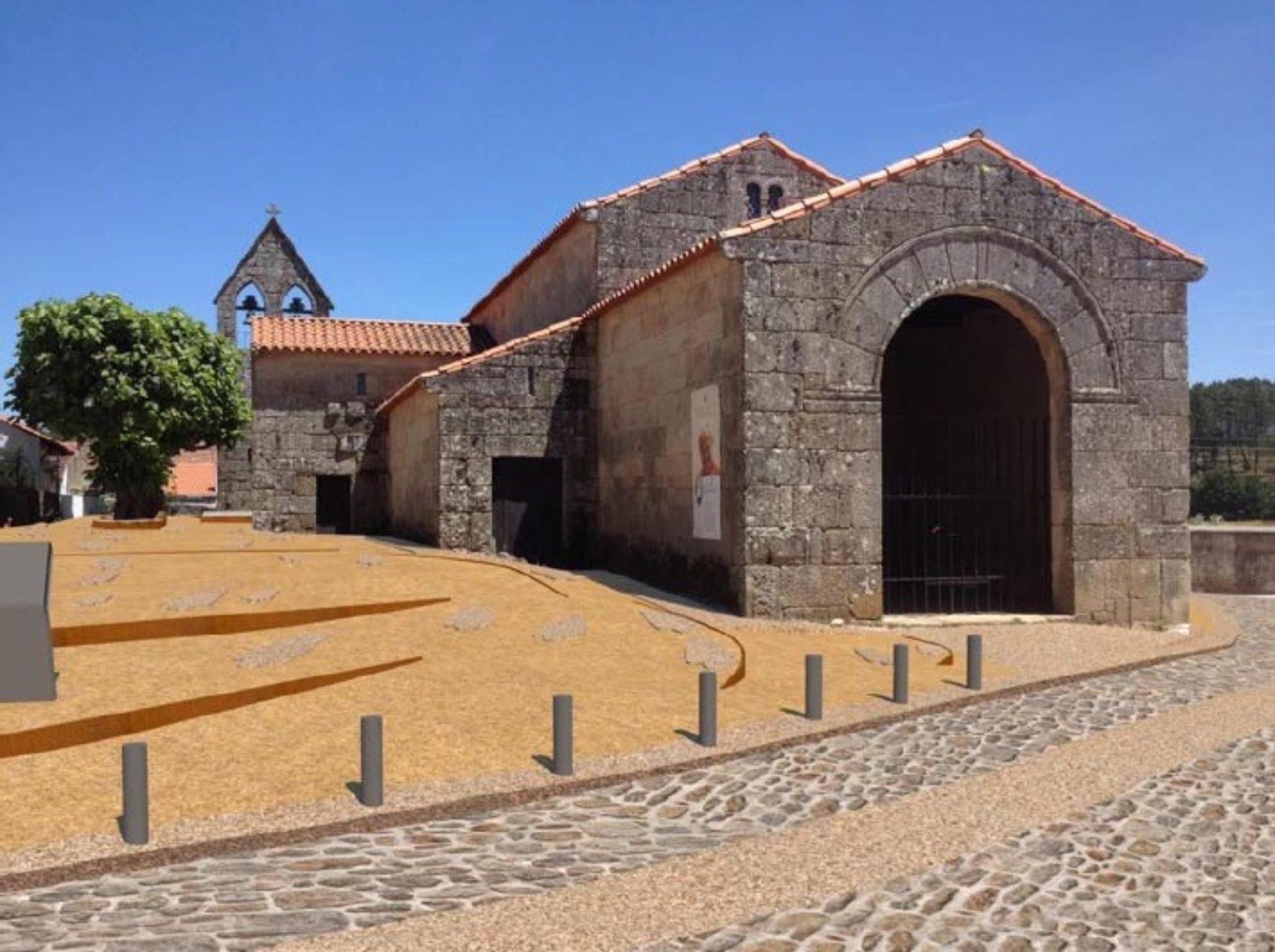 Lourosa: Está em curso a requalificação do Largo junto à Igreja Mocárabe de São Pedro