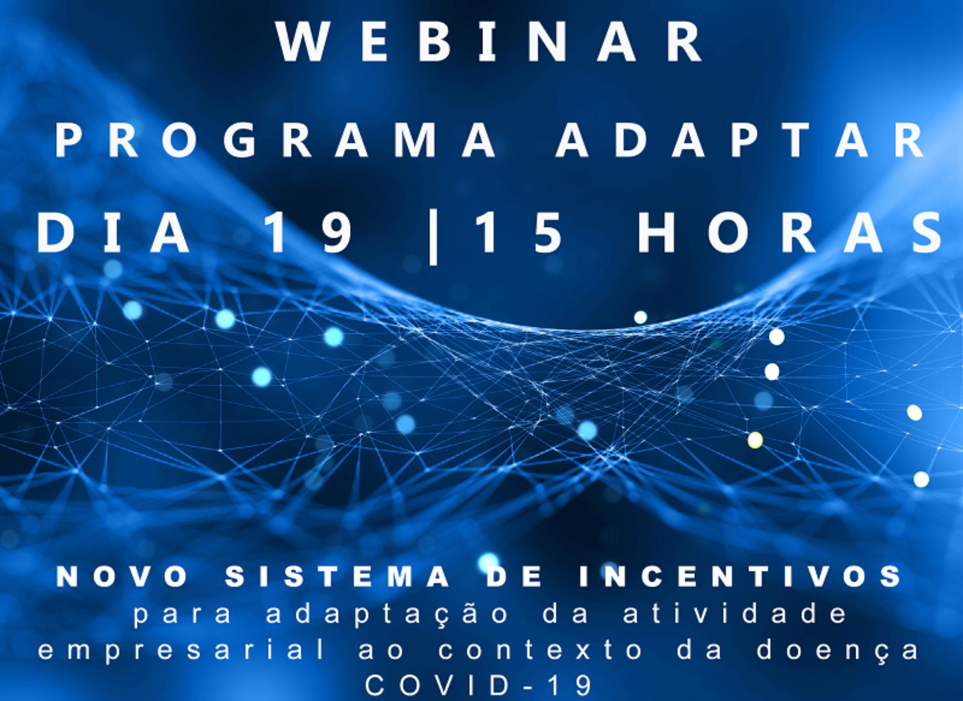 CIM Região de Coimbra e IAPMEI promovem webinar sobre o Programa ADAPTAR