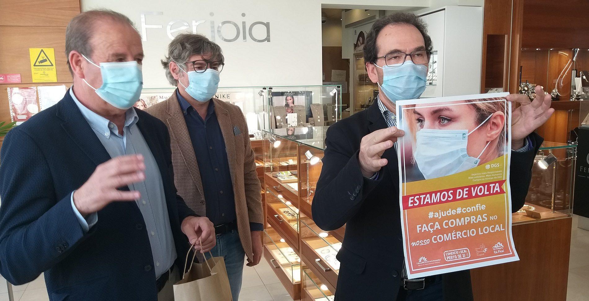 """ADI e Município promovem apoio ao comércio local """"em segurança"""". Vão ser distribuídas 50 mil máscaras pelas habitações"""