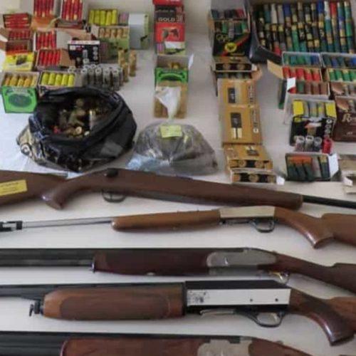 Região: Homem detido por posse ilegal de seis armas de fogo
