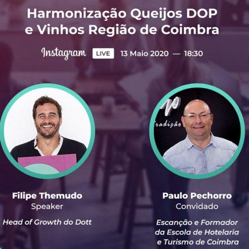 """Dott e CIM Coimbra organizam workshop online sobre""""Harmonização Queijos DOP e Vinhos Região de Coimbra"""""""