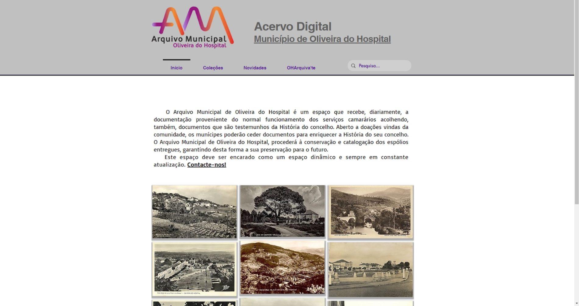 Arquivo Municipal cria site para preservar e divulgar a história de Oliveira do Hospital