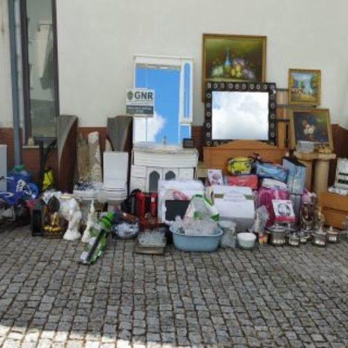 Viseu: GNR recuperou material furtado em residências