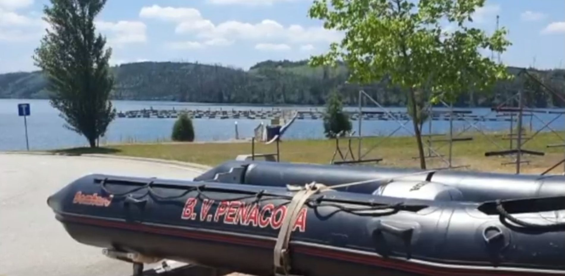 Bombeiros realizam buscas na Barragem da Aguieira e Fronhas para encontrar homem desaparecido