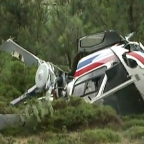 Queda de helicóptero em Góis causou um ferido leve