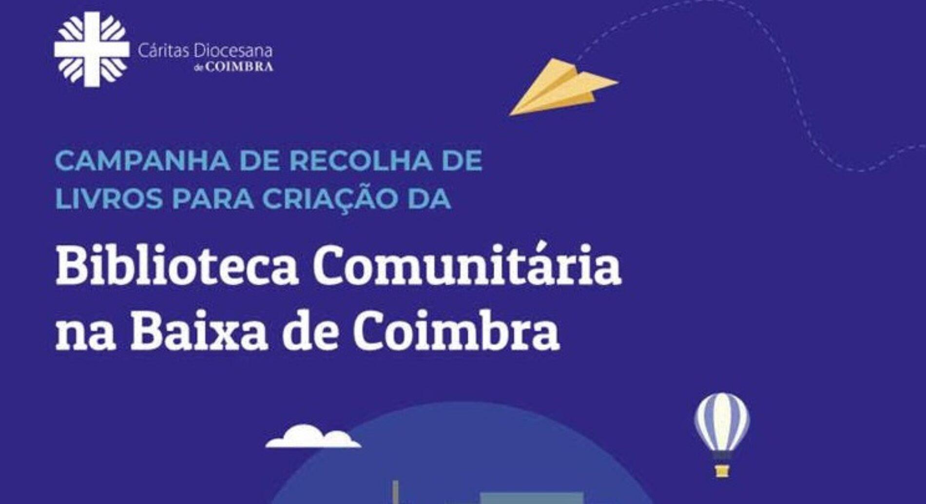 Cáritas Coimbra lança campanha de recolha de livros para criação de Biblioteca Comunitária