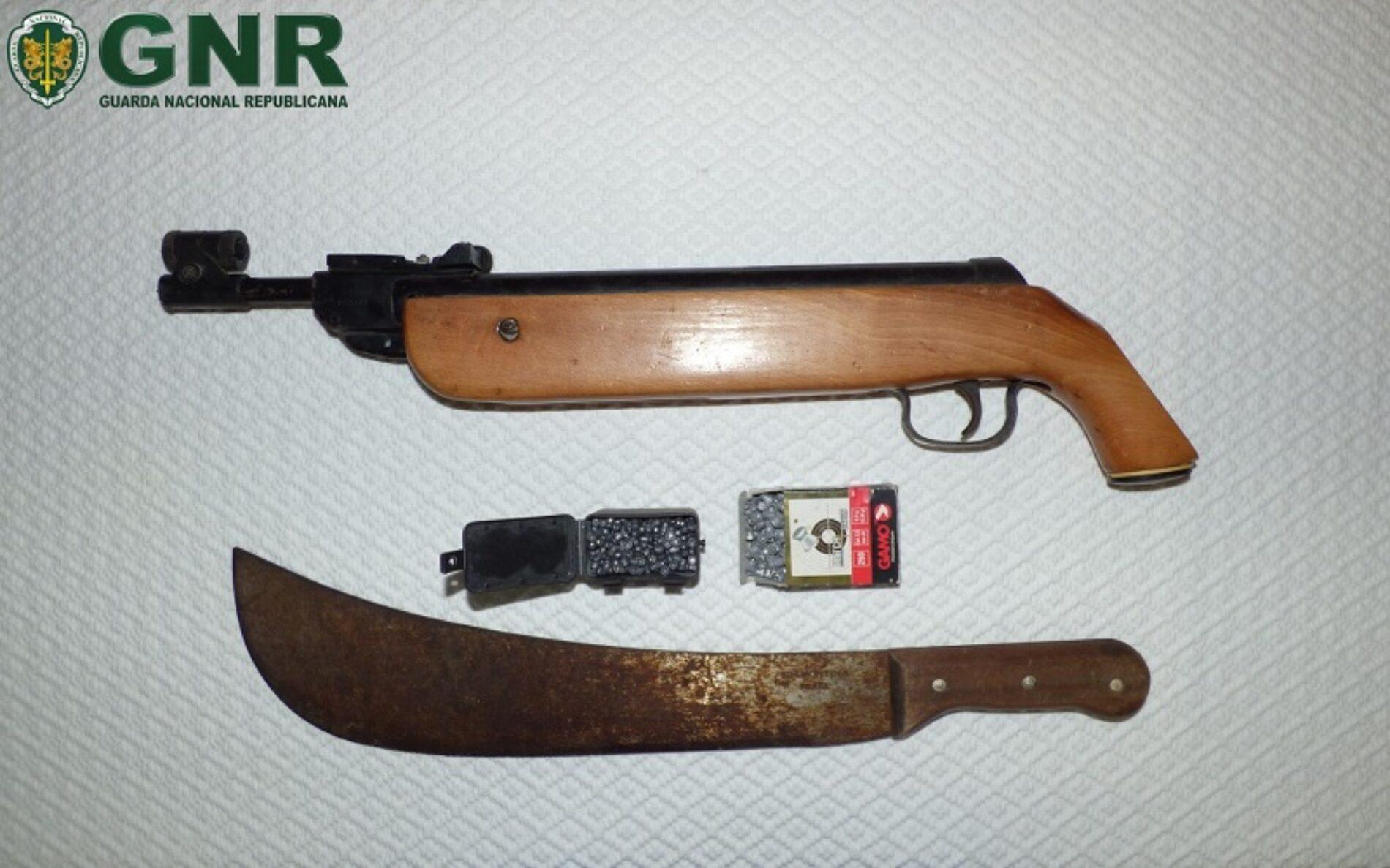 GNR apreendeu armas a homem que agredia filha de 15 anos