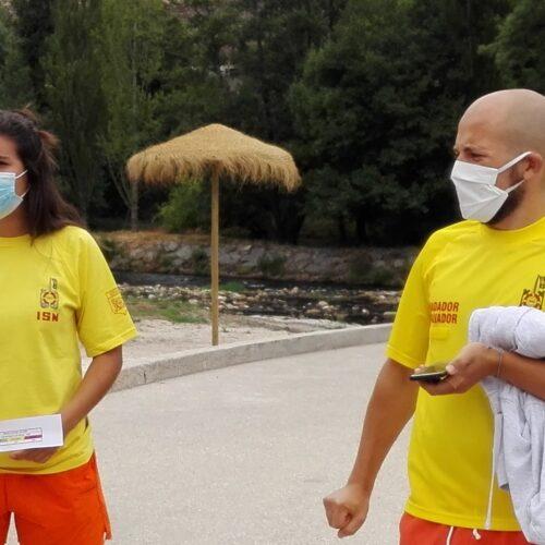 Nadadores-salvadores salvaram pai e filha de afogamento na praia fluvial de Avô