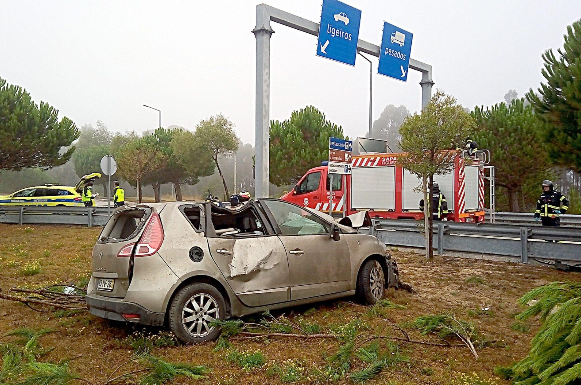 Figueira da Foz: Capotamento na A17 faz vítima mortal