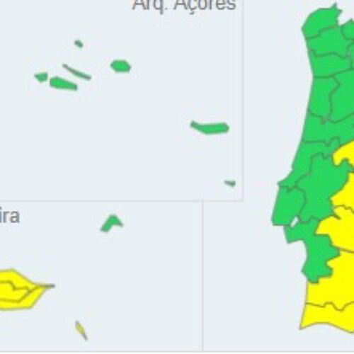 Calor mantém cinco distritos sob aviso amarelo
