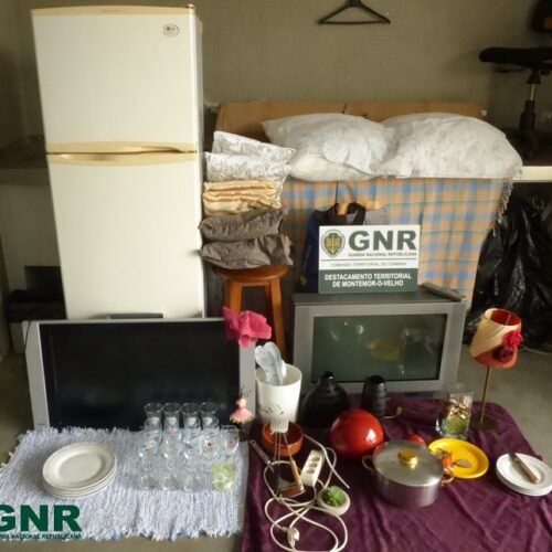 GNR apreendeu artigos furtados em Montemor-o-Velho