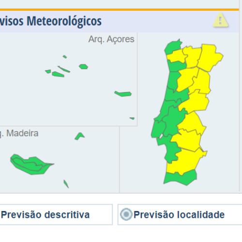 Calor coloca nove distritos em aviso amarelo