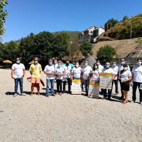 #RespeitopelaVida foi o mote da campanha de sensibilização realizada na Praia Fluvial de S. Sebastão da Feira
